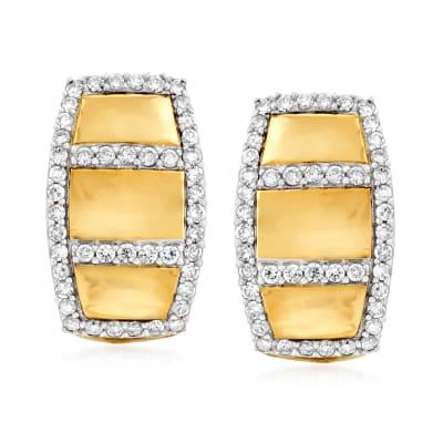 .50 ct. t.w. Diamond Border Drop Earrings in 14kt Yellow Gold