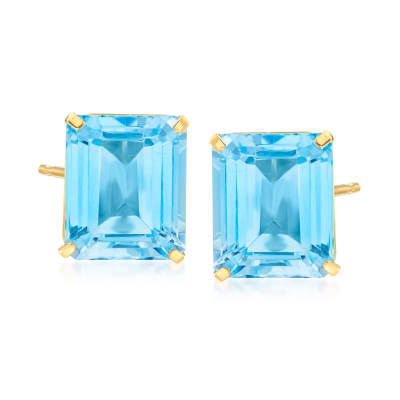 15.00 ct. t.w. Sky Blue Topaz Earrings in 14kt Yellow Gold