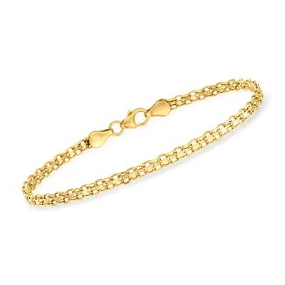 Italian 14kt Yellow Gold Bismark-Link Bracelet
