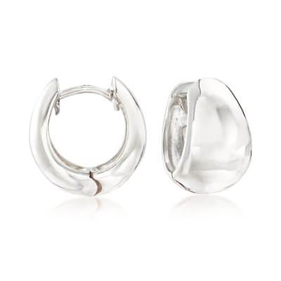 Zina Sterling Silver Tapered Hoop Earrings