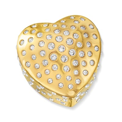 "Crystamas ""Forever Heart"" Swarovski Crystal Goldtone Jewelry Box"