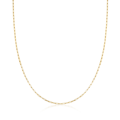 14kt Yellow Gold Paper Clip Link Necklace