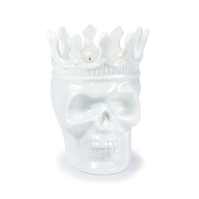 "Thompson Ferrier ""Monte Cristo Rose De Vents Louise"" White Skull Candle"