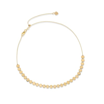 14kt Yellow Gold Multi-Disc Choker Necklace