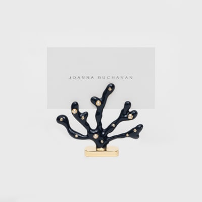 Joanna Buchanan Set of 2 Navy Coral Place Card Holders