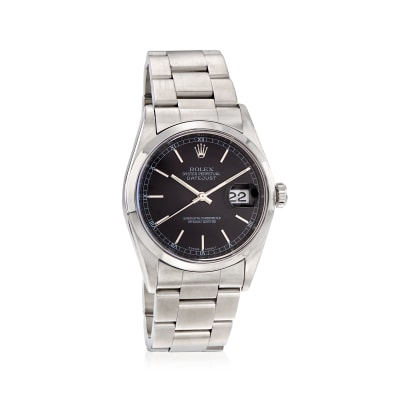 Pre-Owned Rolex Datejust Men's 36mm Automatic Stainless Steel Watch