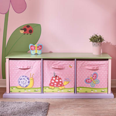 Child's Magic Garden Three Drawer Cubby
