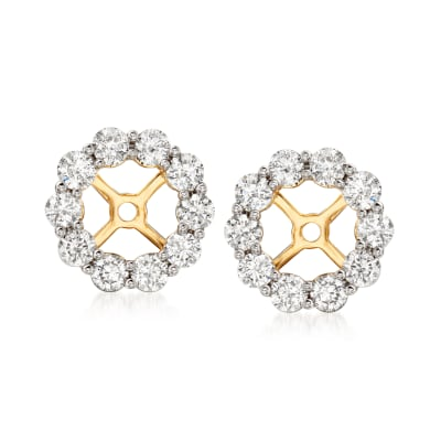 1.00 ct. t.w. Diamond Earring Jackets in 14kt Yellow Gold