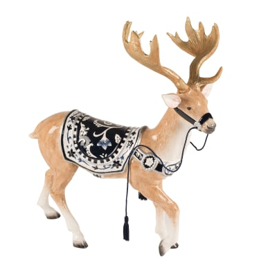 "Fitz and Floyd ""Bristol Holiday"" Reindeer Figurine"