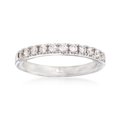 Gabriel Designs .33 ct. t.w. Diamond Wedding Ring in 14kt White Gold