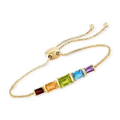 2.80 ct. t.w. Multi-Gemstone Bolo Bracelet