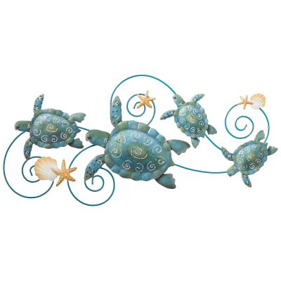 Regal Metal Sea Turtle Wall Decor