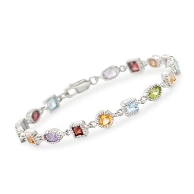 8.30 ct. t.w. Multi-Stone Bracelet in Sterling Silver