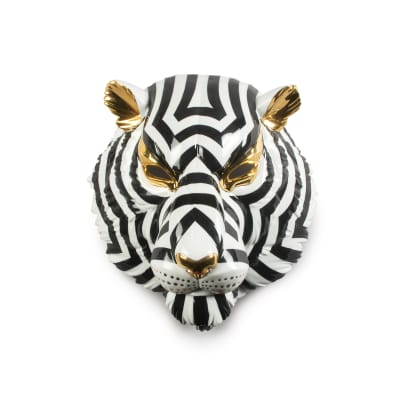 "Lladro ""Tiger Mask"" Porcelain Figurine"
