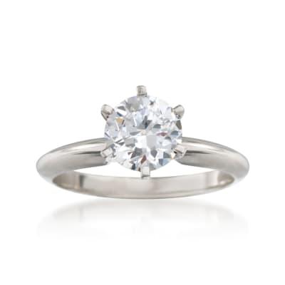 Platinum Six-Prong Engagement Ring Setting