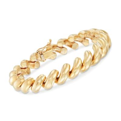 14kt Yellow Gold San Marco Bracelet