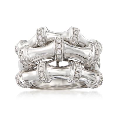 .63 ct. t.w. Diamond Three-Row Ring in 14kt White Gold