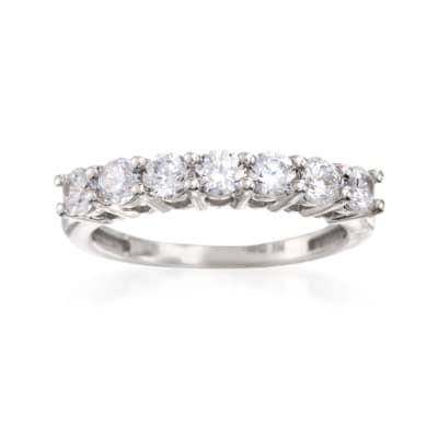 1.00 ct. t.w. CZ Seven-Stone Ring in 14kt White Gold