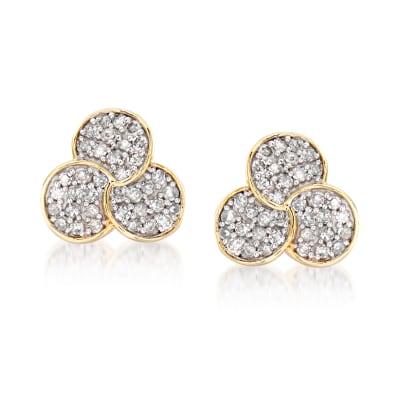 .20 ct. t.w. Diamond Multi-Circle Earrings in 14kt Yellow Gold