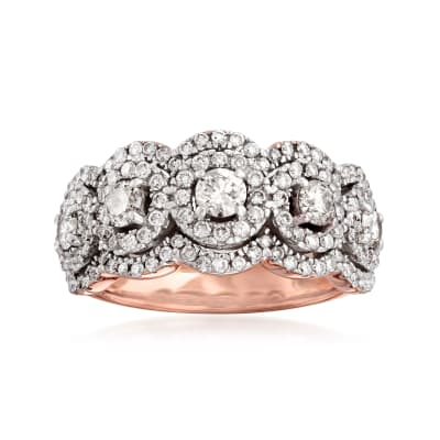 1.25 ct. t.w. Diamond Ring in 14kt Rose Gold