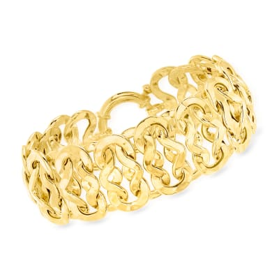 18kt Gold Over Sterling Infinity-Link Bracelet