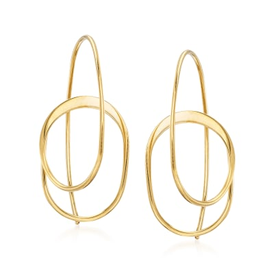 14kt Yellow Gold Curled Drop Earrings