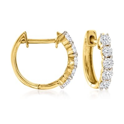 .50 ct. t.w. Diamond Huggie Hoop Earrings in 14kt Yellow Gold