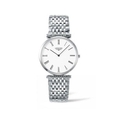 Longines La Grande Classique Men's 36mm Stainless Steel Watch - White Dial
