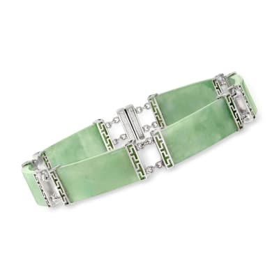 Jade Bracelet in Sterling Silver