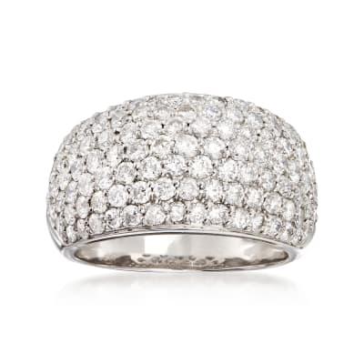 C. 1990 Vintage 3.00 ct. t.w. Diamond Pave Ring in Platinum