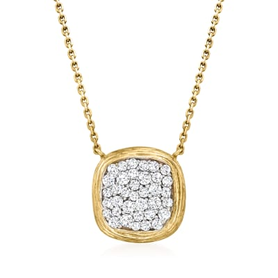 .53 ct. t.w. Diamond Square Necklace in 14kt Yellow Gold