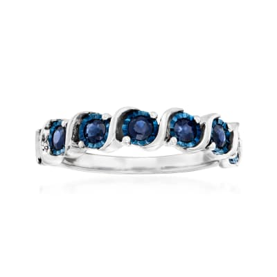 .50 ct. t.w. Sapphire Ring in Sterling Silver