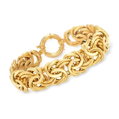 18kt Yellow Gold Byzantine Bracelet