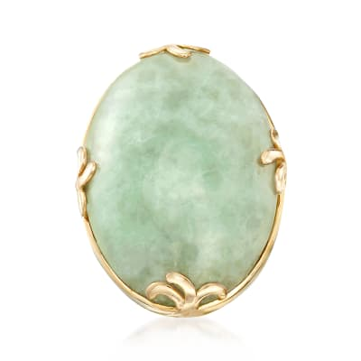 Jade Ring in 18kt Gold Over Sterling