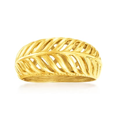 18kt Gold Over Sterling Palm Leaf Ring