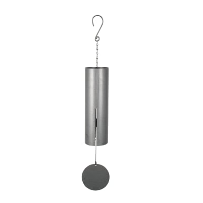 Signature Series Large Pewter Fleck Cylinder Bell Wind Chime