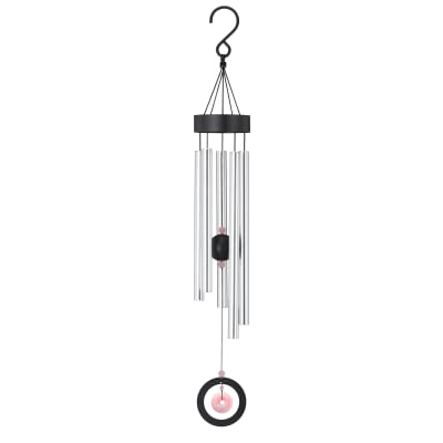 Regal Rose Quartz Healing Stone Wind Chimes