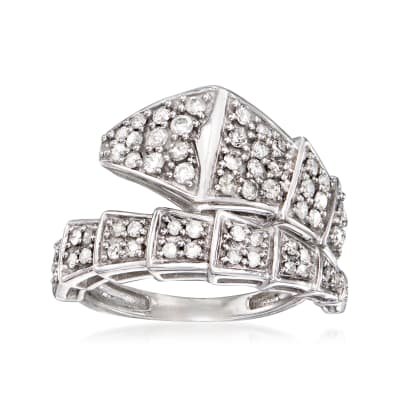 .75 ct. t.w. Diamond Bypass Ring in Sterling Silver