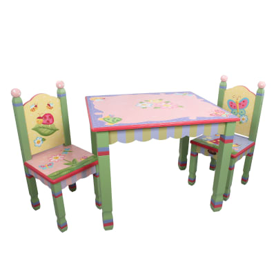 Child's Magic Garden 3-pc. Wooden Set: Table and 2 Chairs