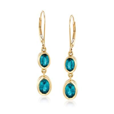 2.90 ct. t.w. Kyanite Drop Earrings in 14kt Yellow Gold