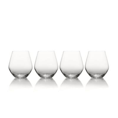 "Mikasa ""Gianna"" Set of 4 Ombre Smoke Stemless Glasses"