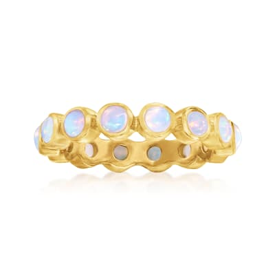 Opal Eternity Band in 18kt Gold Over Sterling