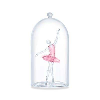 Swarovski Crystal Ballerina Bell Jar Figurine