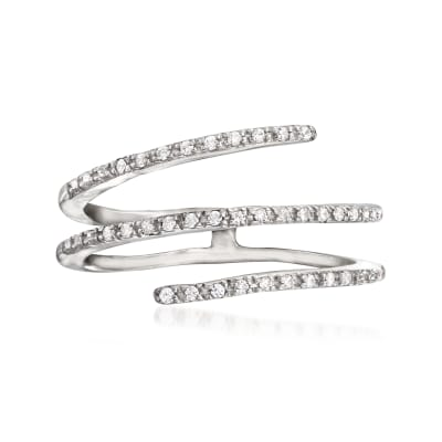 .10 ct. t.w. Diamond Bypass Ring in Sterling Silver