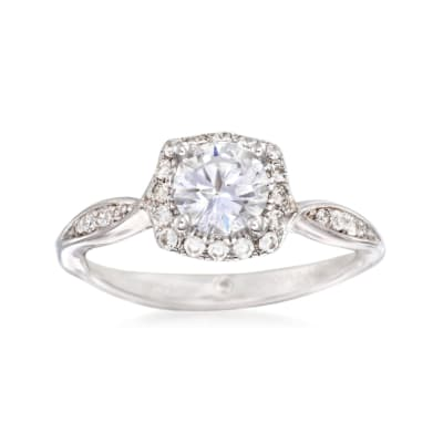 Gabriel Designs .23 ct. t.w. Diamond Halo Engagement Ring Setting in 14kt White Gold