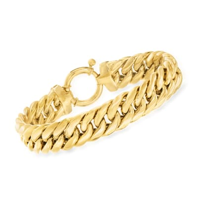 18kt Gold Over Sterling Cuban-Link Bracelet