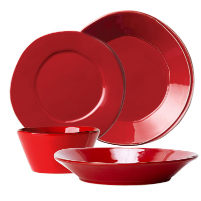 "Vietri ""Lastra"" Red Dinnerware from Italy"