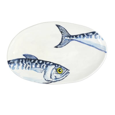 "Vietri ""Macarello"" Small Oval Platter from Italy"