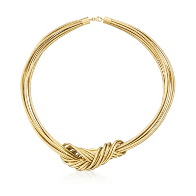Italian Flex Knot Necklace with 18kt Gold Over Sterling