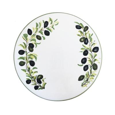 "Abbiamo Tutto ""Classic Olive"" Ceramic Trivet/Cheeseboard from Italy"